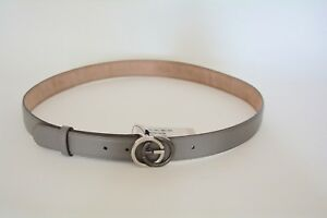 76ad9f26067 NWT GUCCI MENS PEBBLED LEATHER TWO TONE GG BUCKLE BELT SIZE 100 40 ...
