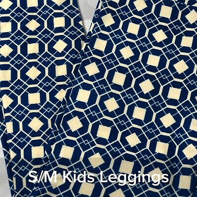 BNWOT Georgian Bay Blue LuLaRoe S//M Child Kids Solid Color Leggings LLR