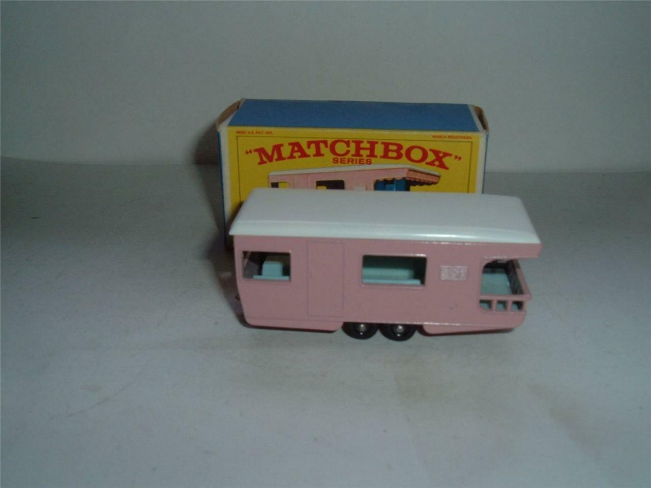 MATCHBOX A LESNEY PRODUCT No23 Trailer Caravan Pink MINT in BOX SEE THE PHOTOS