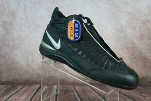 ebe3c902632 NIKE Zoom Air Baseball Cleats Black High Top Lace Up Mens size 15 US ...