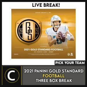 2021 PANINI GOLD STANDARD FOOTBALL 3 BOX BREAK #F758 - PICK YOUR TEAM