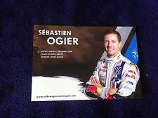 CP POSTCARD CARTOLINA VOLKSWAGEN POLO SEBASTIEN OGIER RALLY WRC RALLYE 2014