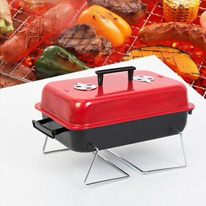 Portable-BBQ-Grill-Small-Rack-Cooking-Stove-Picnic-Stainless-Steel-Charcoal-Meat
