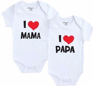 91d6e18344bfd 2 x Trajes AMO A MAMA Y PAPA Ropa de Bebe y Recien Nacido Para Nene ...