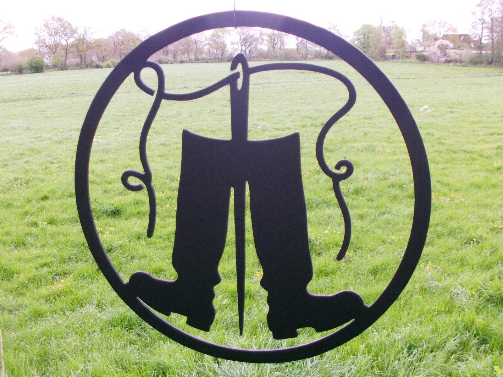 SCHUSTER,das Zunftzeichen aus aus aus 3mm STAHL,D=40cm,Handwerkerzeichen,Innungsschild 2fe248