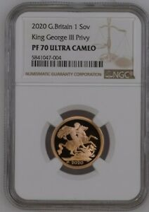2020-Great-Britain-Sovereign-King-George-III-Privy-Gold-Proof-NGC-PF70UC-Top-Pop