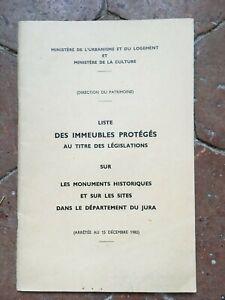 Il jura Lista Delle Monumenti Storici Ministero Sterzo Del Heritage 1982