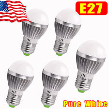 5X E27 Energy Saving LED Bulb Light Lamp 3W Cool White 110V Globe Ball Lamp Bulb