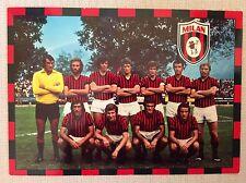 AC. MILAN CALCIO CARTOLINA SQUADRA 1974/75 RIVERA BIGON ALBERTOSI BET BENETTI...