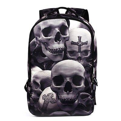 22 Liter Rucksack mit Totenkopf Muster,