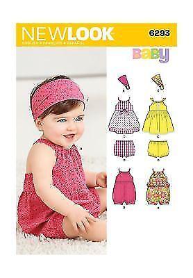 01c15e26a Simplicity Creative Patterns LOOK 6293 Babies  Romper Dress Panties ...