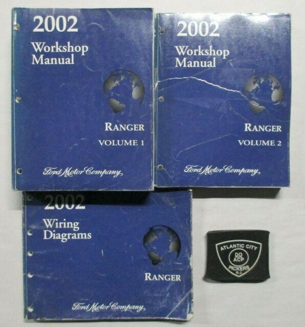 2002 Ford Ranger Service Shop Repair Manual  U0026 Wiring Diagrams Set