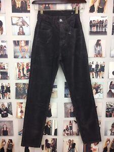 Last-one-Brandy-Melville-Brown-high-rise-Jane-corduroy-pants-Skinny-NWOT-sz-S