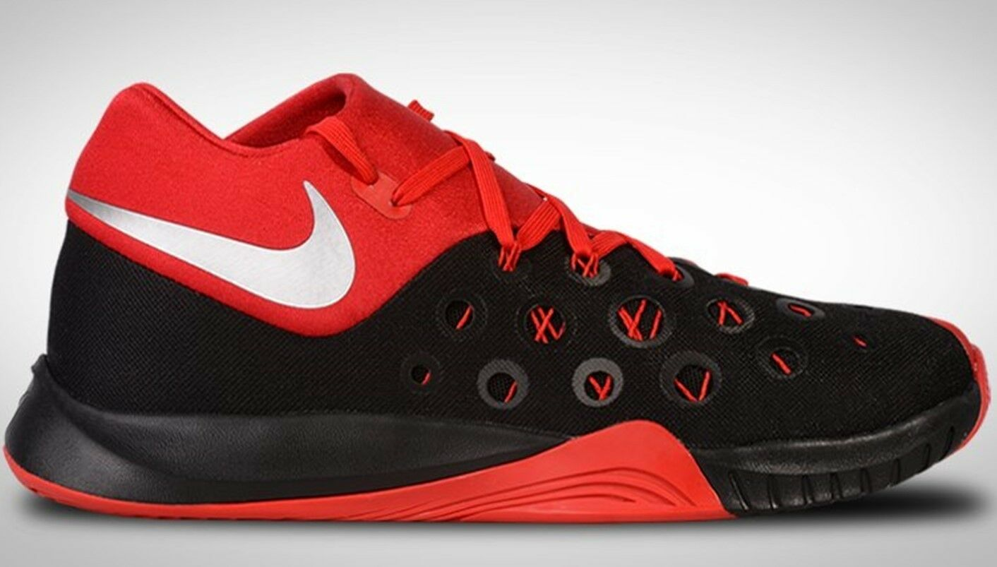 NEW NIKE ZOOM HYPERQUICKNESS 2015 sz 11 RED Black Basketball shoes Sneakers