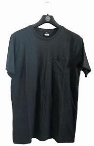 Rip-Curl-PLAIN-POCKET-TEE-Men-039-s-Crew-Neck-T-Shirts-New-CTETY1-Black-Marle