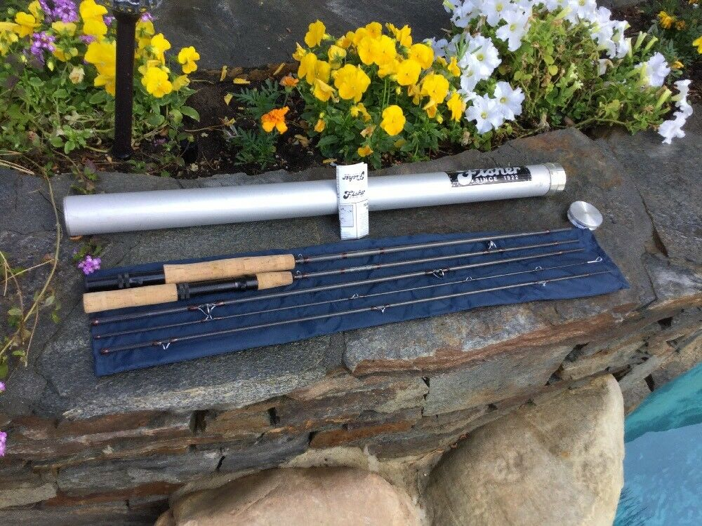 "FISHER FOUR Piece FIVE SIX Weight 9'0  Graphite Graphite Graphite Fly Rod or 6'9"" Spinning Combo b75ace"