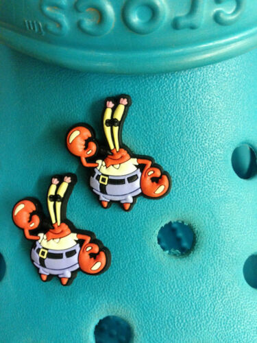 2 Mr Krabbs SpongeBob SquarePants Shoe Charms Free UK P/&P
