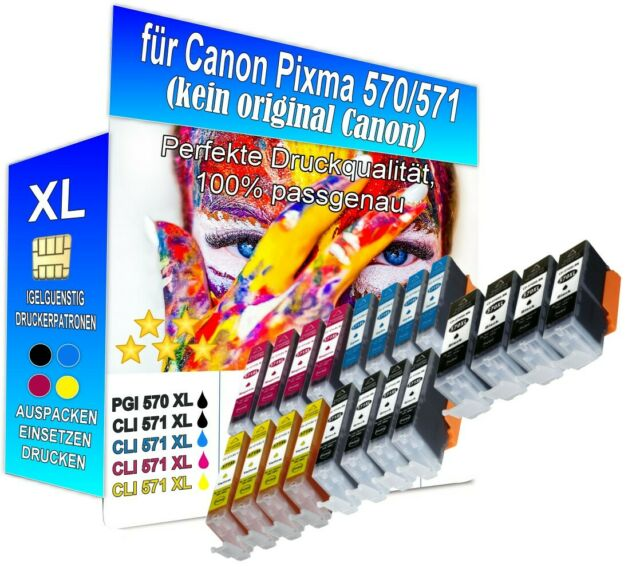 20 Drucker-Patronen für CANON Pixma MG5753 MG5751 MG5750 MG5700 mit Chip