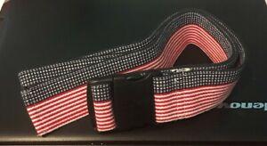 SKIL-CARE-Gait-Belt-56-034-x-2-034-Red-White-amp-Blue-Stars-amp-Stripes-Flag-Strap
