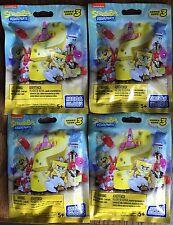 MegaBloks Spongebob Squarepants Series 3 Mystery Pack Lot of 4 Minifigures NEW