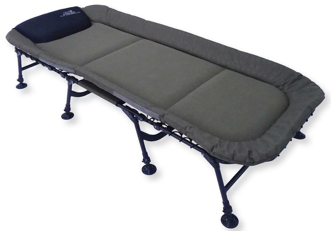 Prologic comhommedant Flat grand Bedchair 8-Jambe voiturepes transat chaise longue ANGEL Pêcher