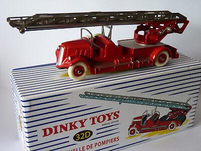 VOITURE Réédition DINKY TOYS ATLAS N° 32D Camion Delahaye Echelle de Pompiers