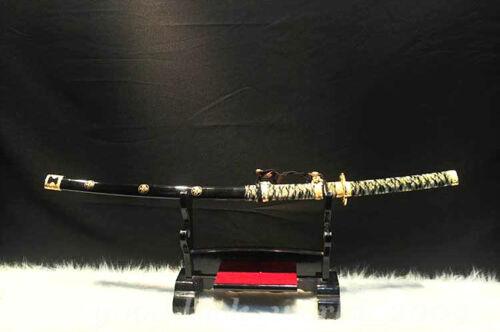 Japan Taichi Samurai Sword Katana Pattern Steel Razor Sharp Blade Battle Ready