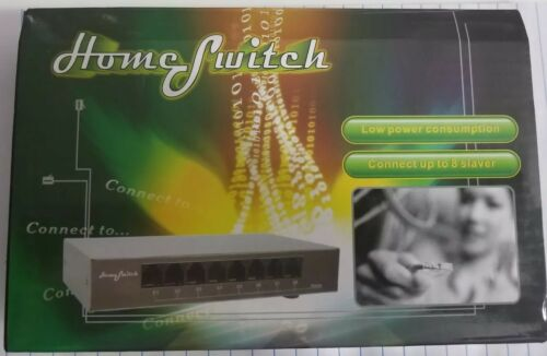 8 Port Switch for Router and Modem Internet Splitter Home Networking New