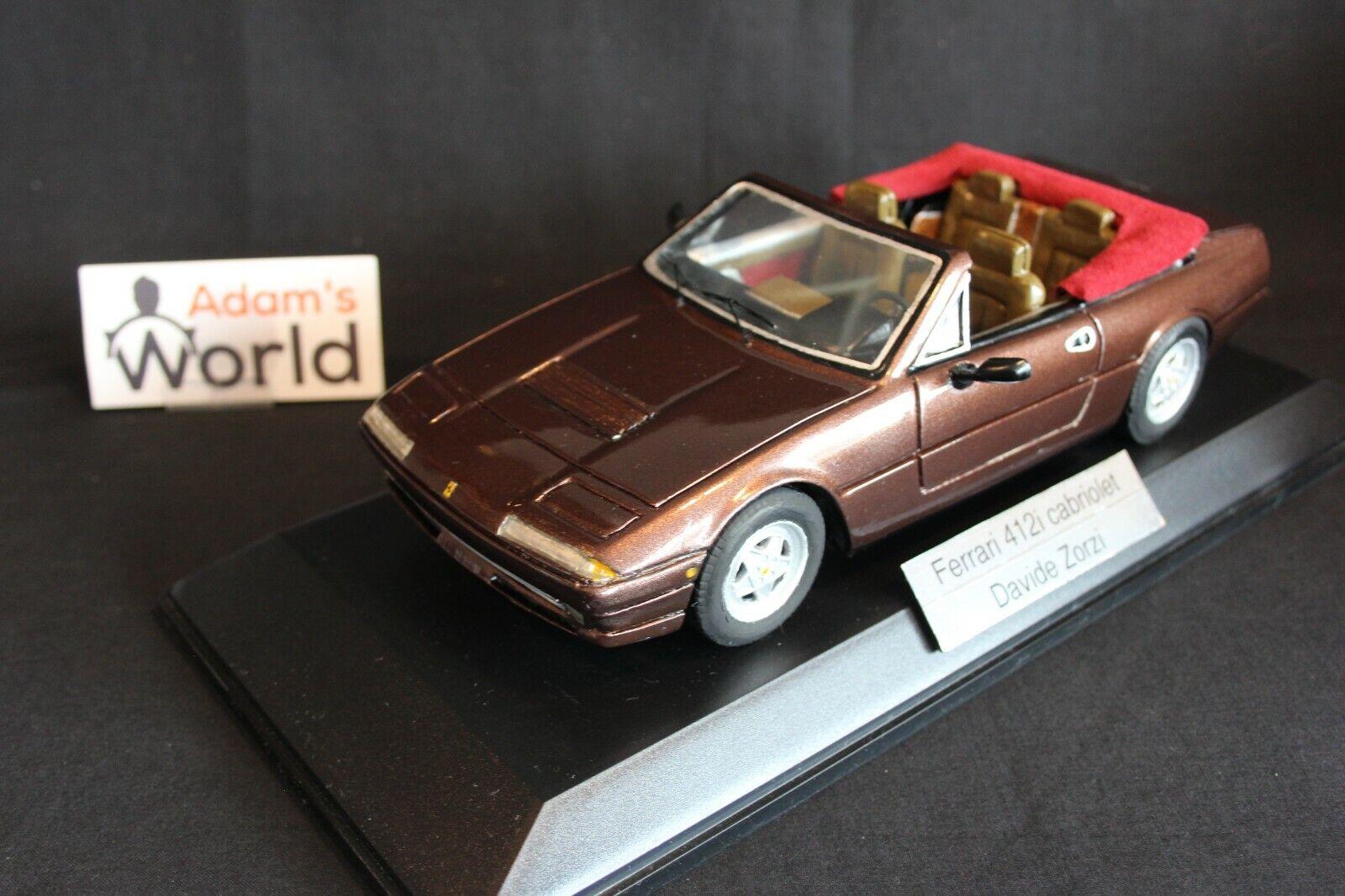 Davide Zorzi built kit Ferrari 412i Cabriolet 1 18 brown (PJBB)