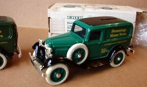 ERTL-1932-FORD-PANEL-RARE-1-HEMMINGS-MOTOR-NEWS-BANK-9669-IRISH-GREEN-MIB