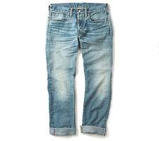 Double RL, RRL slim fit, dylan blue, selvedge, men's jean, s. 30, 31, 32