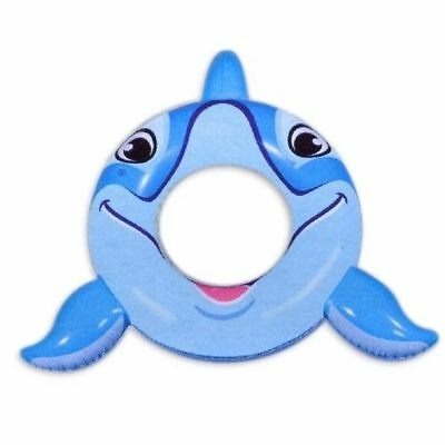 """ClearWater 40"""" Inflatable Dolphin Ring Swimming Pool Fun Float Tube Ages 3 & Up"""