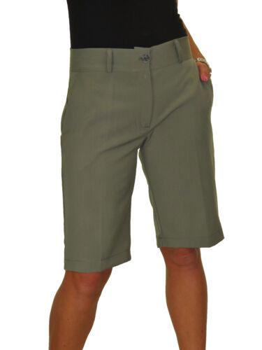 Ladies Smart Casual Washable Tailored Shorts Khaki NEW 8-22