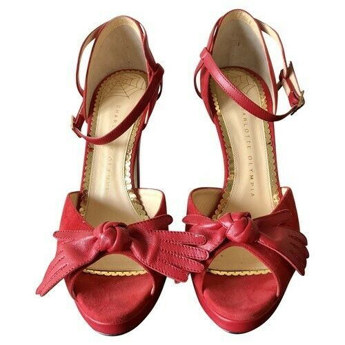 Sandali It Suede 38 5 Uk In Olympia Size Charlotte 7 Us 5 Red gE8qUWxwS