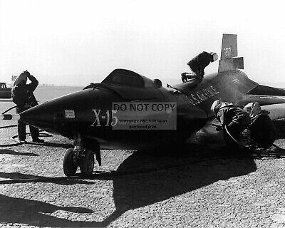 8X10 PHOTO X-15 AIRCRAFT AFTER HARD LANDING BY PILOT SCOTT CROSSFIELD AA-581