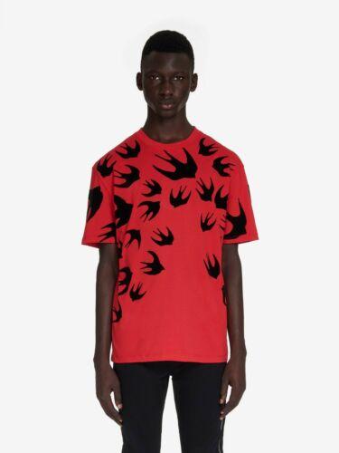 M C Q/% 100 Authentique Hommes Hirondelle Imprimé T-shirt rouge