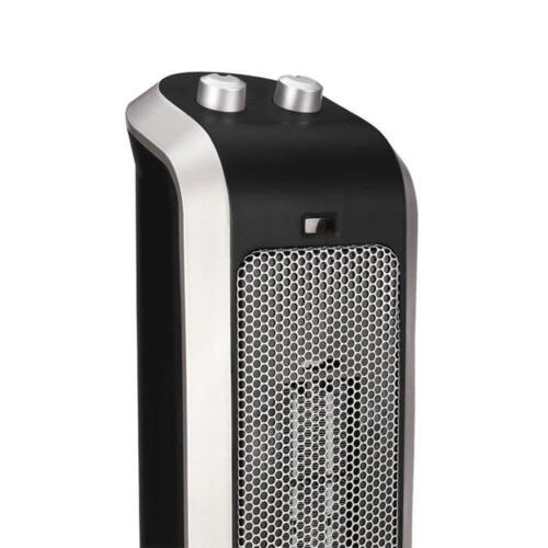 NEW Crane EE-7588 Oscillating Ceramic Tower Heater 3 Setting Indoor Heat Black