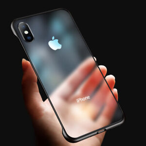 Ultra-Thin-Frameless-Case-For-iPhone-6S-7-8-Plus-XS-Max-Transparent-Matte-Cover