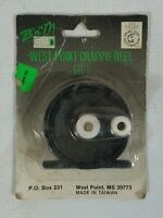 Vintage 80s Crappie Fishing Reel West Point Pan Fish Micro