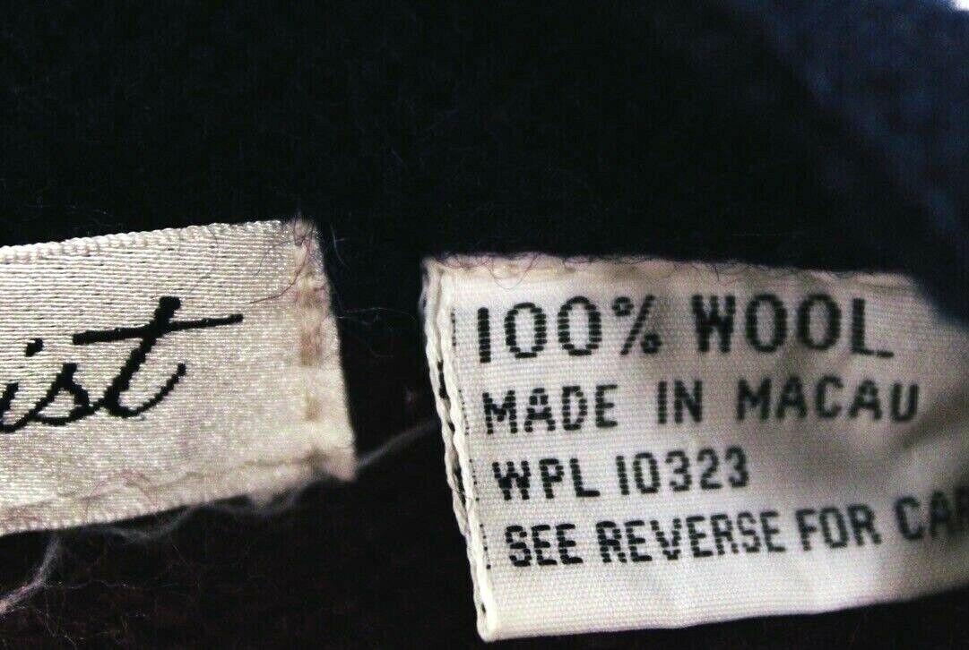 VTG Herman Geist Sweater Cardigan Red/Blue Wool M… - image 7