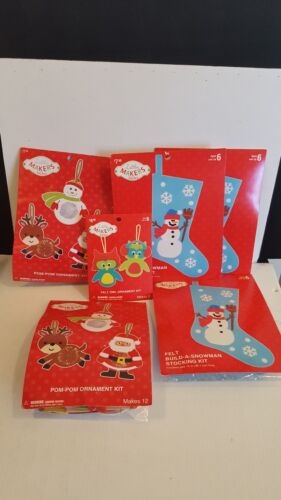 3 Little Makers Felt BuildASnowman Stocking Kit Kid's Craft Project Christmas