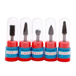 New-5x-Tungsten-Carbide-Burr-Bit-1-4-034-6mm-Rotary-Cutter-Files-CNC-Engraving-Tool