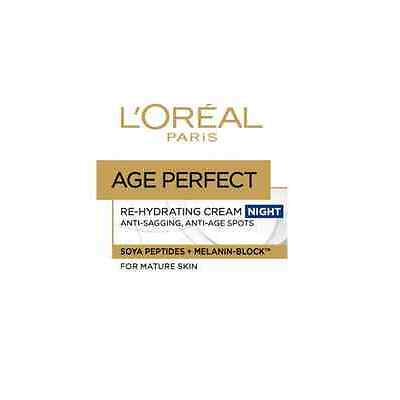 3x L'Oréal Loreal Age Perfect  Soja-Peptide Nachtpflege 50 ml. nacht creme kreme