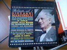 """LP 12"""" GIOVANNI MARTINELLI BELCANTO VOL.1 RCA 1962  EX"""