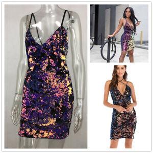 sexy abendkleid etuikleid glitzer kleid midi pailletten party clubwear 34/36/38  ebay
