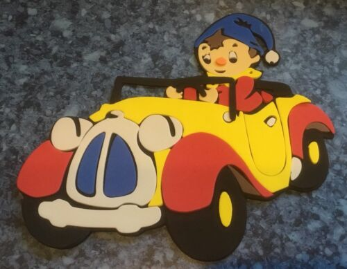 "NEW CRAZE 3D FOAM WALL DECORATION 8"" X 8"" NODDY IN CAR COLOURFUL FUN DESIGN"