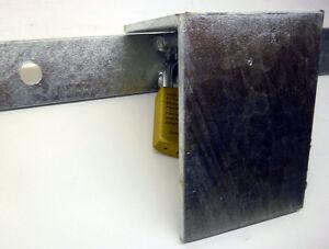 UBERFALLE-Uberwurf-0-64m-R-f-Hangschloss-Keller-Garage-Scheune-Tuer-Sicherheit
