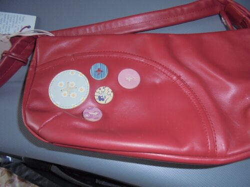 Bnwt Radley £ a Red Grande Leather 90 di mano regalo Buttons Genuine e Borsa polvere sacchetto PdqFx7dw