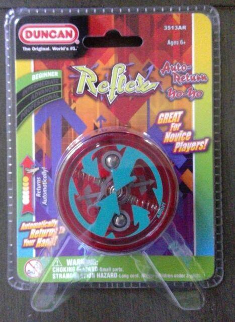 Duncan Reflex Yo Yo Original Classic Blue Red Green Auto Return 3 Neon Strings