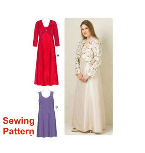 Kwik Sew k3514 motif robes pour femmes tailles /& veste 1x-4x BN